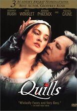 Brand New DVD Quills Geoffrey Rush Kate Winslet Joaquin Phoenix Michael Caine
