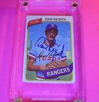 AUTOGRAPH 1980 #548 Dave Rajsich Rangers, SIGNED Baseball card auto