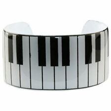 Funky Piano Keys Keyboard Cuff Bangle - Retro Music Lovers Kitsch