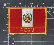 Peru National Country Flag Patch Badge Ensign Bandera South America Lima Cusco