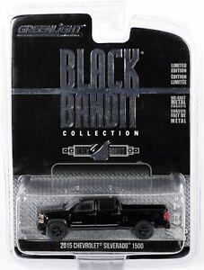 GreenLight 2015 Chevrolet Silverado 1500 Black Bandit Collection #27790 New 1:64