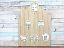 House Shaped Key Board Key Rack 6 Hooks Car House Dog Bike Garage