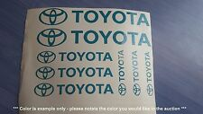 Toyota Emblems / Stickers / Decals - 8 total, multiple colors