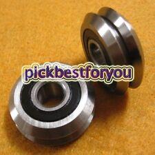 100pc RM2ZZ 9.525*30.73*11.1mm Vgroove Sealed Ball V Groove Bearing CNC M2242 QL