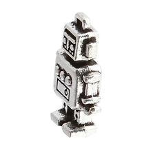 20pcs Hot Sale Retro Antique Silver Robot Shaped Zinc Alloy Pendant Findings D