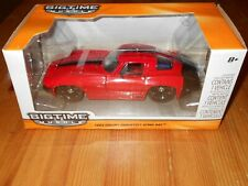 Die Cast Scale 1/24 JADA Big Time Muscle 1963 Chevy Corvette Stinray Red RARE