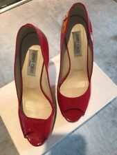 Jimmy Choo Red Shoes Size 41 Uk 8