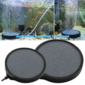 Air Bubble Disk Stone Aquarium Fish Tank Pond Pump Hydroponics Oxygen Aerator