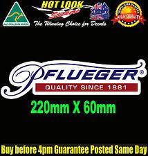 PFLUEGER Fishing Boat REEL ROD Decal Sticker Suit Fridge Dingy Tackle Box Bar