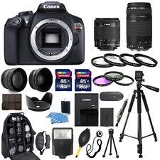 Canon EOS Rebel T6 Cámara + 18-55mm IS + 75-300mm + 30 Pieza II Paquete