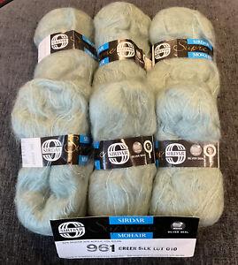 "Sirdar Supreme 50% Mohair Knitting Wool/Yarn (6x50g). ""Green Silk""^"