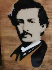 Signed Acrylic on Wood John Wilkes Booth Infamous Series Painted Pop Art