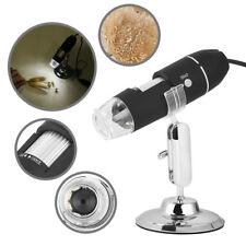 1000x USB Numérique Endoscope de microscope 8 LED Électronique HD Loupe caméra
