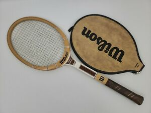 Wilson Jimmy Connors CAPRI Wood Wooden Tennis Racket Racquet w/ Cover - VINTAGE