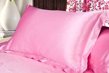 "Smooth Queen/Standard Silk~y Satin Bedding Pillow Case Multiple Colors 19""X29"""