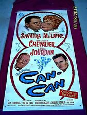 """LARGE CAN-CAN 1960 41w""""x79h"""" Movie Poster - Frank Sinatra & Shirley MacLaine"""