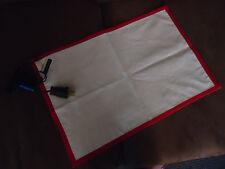 "Cotton w/Silver Grid Grounding Pad/Mat. Conductive. EMF Shielding. 12""x18"" NEW"