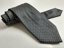 "Prada Navy Blue Pink Polkadot Men's 100% Silk Tie 57"" Made in Italy"