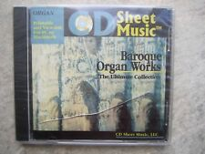 Sheet Music CD - printable Baroque Organ Works  *NEW* shrink wrapped