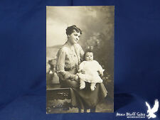 Rugg RPPC Minneapolis MN Mother & Child Portrait Handmade Booties Very Sweet