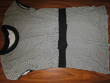 Shirt T-Shirt Tunikashirt kariert Gr. 176 schwarz weiß 4-52