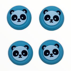 JenDore Blue Panda 4Pcs Silicone Thumb Grip Caps for Nintendo Switch Pro Control