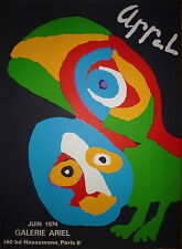 Karel Appel affiche Lithographie 1974 Art Abstrait Abstraction cobra Amsterdam