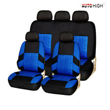 Complete Set of Car Seat Cover Car Seat Safety Protection Decoration Blue