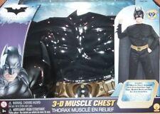 OFFICIAL BATMAN FANCY DRESS COSTUME 3-D MUSCLE CHEST ACTION SUIT RUBIES NEW