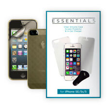 iPhone SE/5s/5 Accessories Pack Silicone Case Screen Protector In-Car Charger