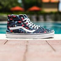 VANS Sk8 Hi Reissue (Pool Vibes) Black/True White Flamingo WOMEN'S 7.5