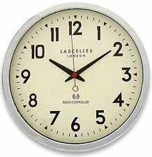 Roger Lascelles Radio Controlled Wall Clock,Chrome