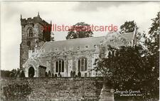 REAL PHOTOGRAPHIC POSTCARD OF ST. LEONARDS CHURCH, DOWNHAM, LANCASHIRE
