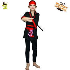Kids Ninja Costume Fancy Dress Boys Girls Book Day