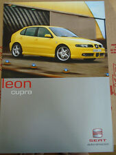 Seat Leon Cupra brochure Mar 2001 German text