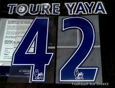 Manchester CITY YAYA TOURE 42 Premier League Maglietta da calcio nome Set LEXTRA
