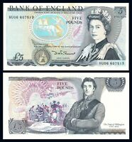 GREAT BRITAIN 5 £ POUND ND (1971-1991) P 378f UNC- Sign. Gill Prefix HU / *QE II