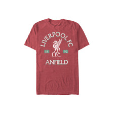 OFFICIALLY LICENSED LIVERPOOL ADULT T-SHIRT RED ANFIELD EST 1892 SM-XXL
