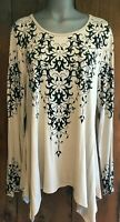 New VOCAL SHIRT tunic XXL XXL,1X-3X western crystal bling TAUPE flattering sexy
