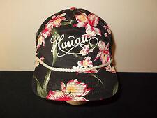 VTG-1980s Hawaii Flower Floral All Over Print rope snapback SANSUN hat sku10