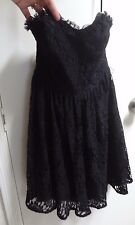 Juicy Couture Dress Prom Goth Strapless Lace Built in Bra Support grunge 6 s