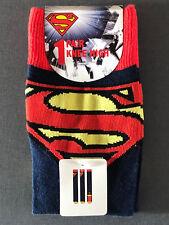 SUPERMAN SUPERGiRL DAMEN KNiE-STRÜMPFE SOCKEN COSPLAY 37-38-39-40-41-42 PRiMARK