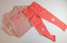 NWT GAP Girls 2 Piece Outfit T-Shirt Butterflies/Leggings Star/Heart XS/4-5 New
