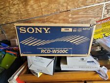 New listing Sony Dual Cd Changer and Recorder Multi Play Model Rcd-W500C no remote
