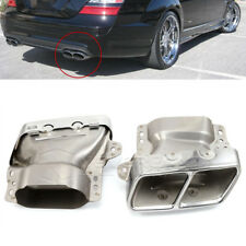 Pair Car Exhaust Pipes Tail Muffler Tips For Mercedes Benz W221 W164 AMG 05-2012