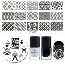4Pcs/set BORN PRETTY French  Stamping Plate 6ml Stamping Polish Tool