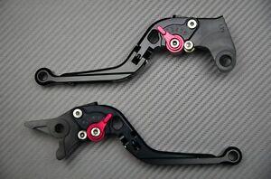 Adjustable Folding Flip Up Levers CNC black Bimota DB5 & DB6 2006 - 2013