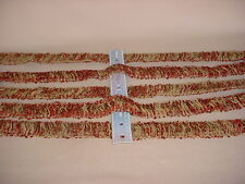 9+y GELBERG BRAID EJ3016TVB RUST / METALLIC GOLD BRUSH FRINGE UPHOLSTERY TRIM