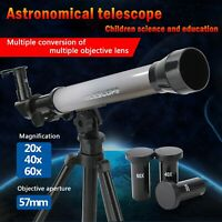 20X~60X Refractive Astronomical Telescope Tripod Monocula Space Scope Refractor