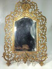 Antique Bradley & Hubbard Solid Brass Ornate Bacchus Motif Mirror